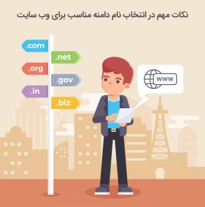 انتخاب نام دامنه اینترنتی
